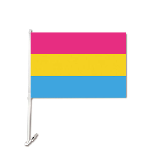 Pansexual Car Flag