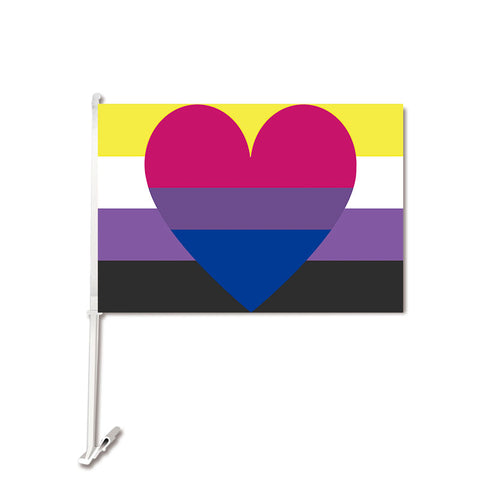 Non Binary Bisexual Pride Flag