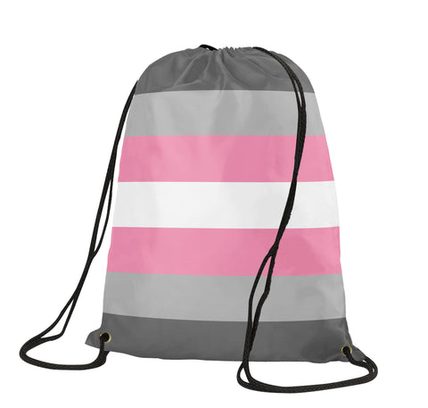 Demigirl Pride Drawstring Backpack