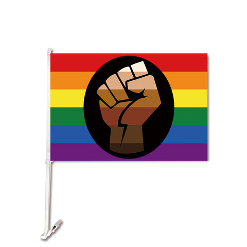 Pride Fist Car Flag