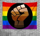 Pride Fist Wall Hanging Tapestry