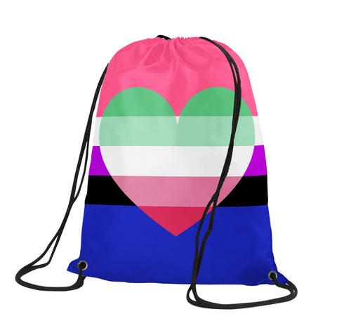 Genderfluid Abrosexual Drawstring Backpack