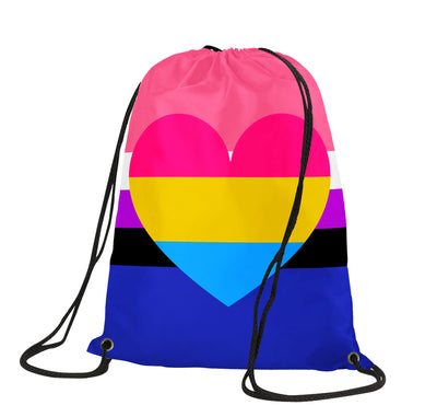 Genderfluid Pansexual Drawstring Backpack