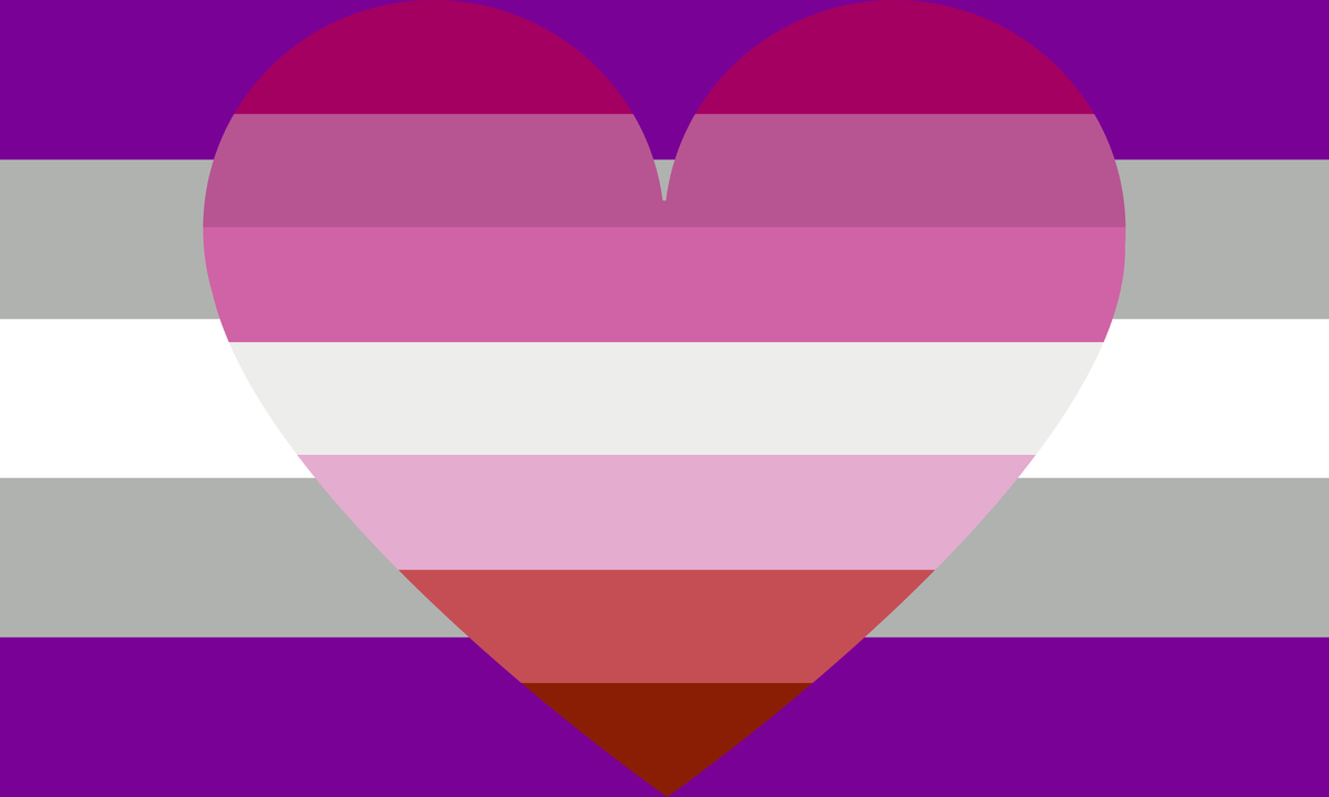 Gray Asexual Lesbian Combo Pride Flag – Pride Nation
