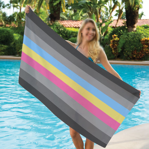 Gray Pansexual Towel