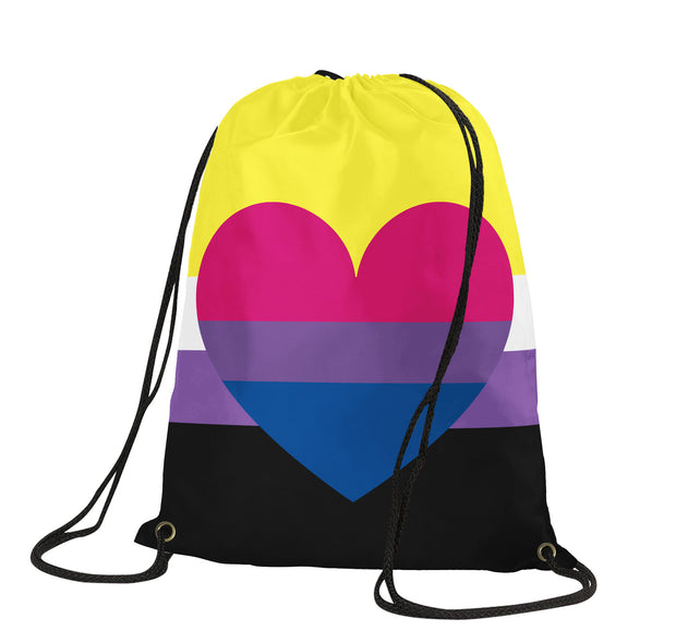 Non Binary Bisexual Drawstring Backpack