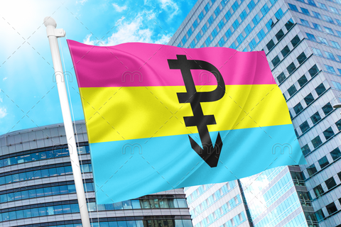 Pansexual Pride Flag with P