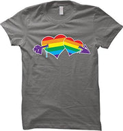 Double Rainbow Hearts Women Tees