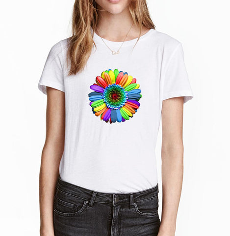Rainbow Flower Women's T Shirt