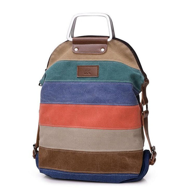Rainbow Women's Canvas Backpack