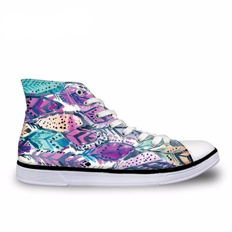 Pride Raindrop 3D Prints High Top Canvas Shoes