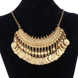 Boho Coin Collar Necklace.