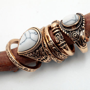 Women 6pcs Vintage Ring Set