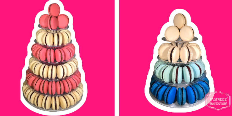 Macaron tower for baby shower cake