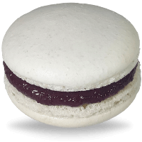 Blackberry white macarons