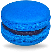 Blueberry Baby Blue Macarons