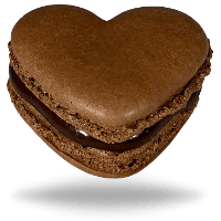 Heart chocolate macarons