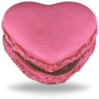 Strawberry Heart Macarons