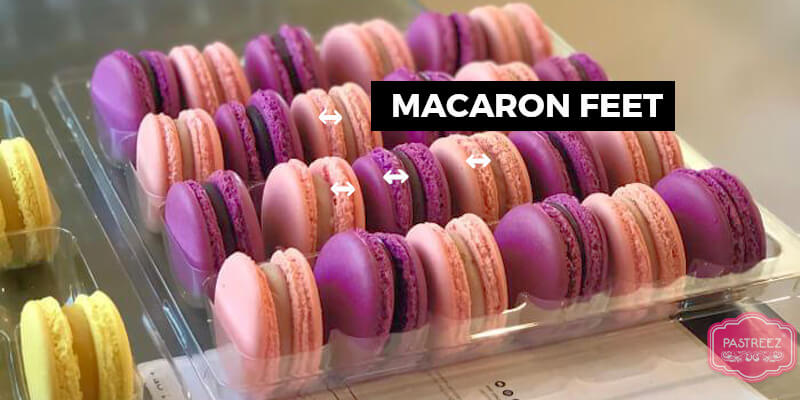 Macarons feet explanation by Pastreez French chef