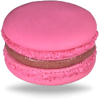 Strawberry Vanilla Pink Macarons