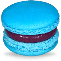 Turquoise Light Blue Macarons