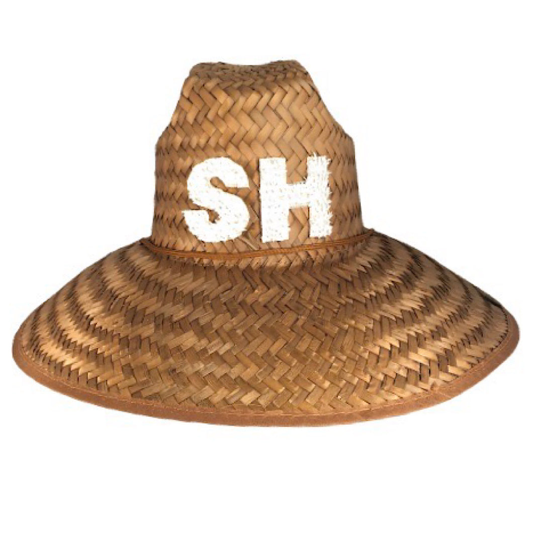 glampwear southampton straw hat summer hat lifeguard hat