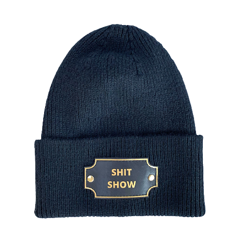 SHIT SHOW KNIT BEANIE HAT - BLACK    WOW! THIS WAS POPULAR. WILL BE RESTOCKED ON 12/14