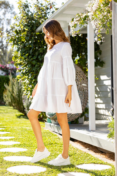 Stevie Dress - White