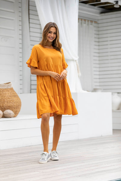 Melania Tiered Frill Dress - SALE