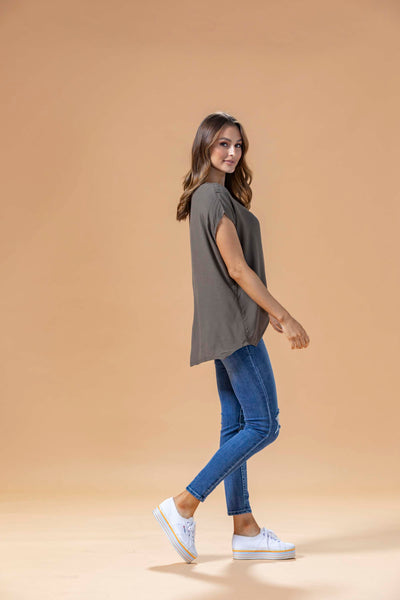 JANE TOP - KHAKI