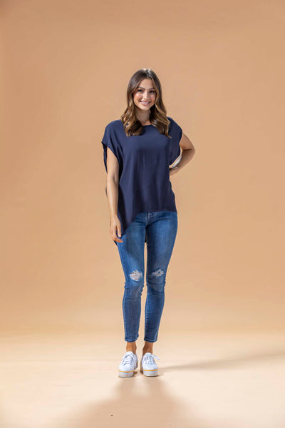 JANE TOP - NAVY