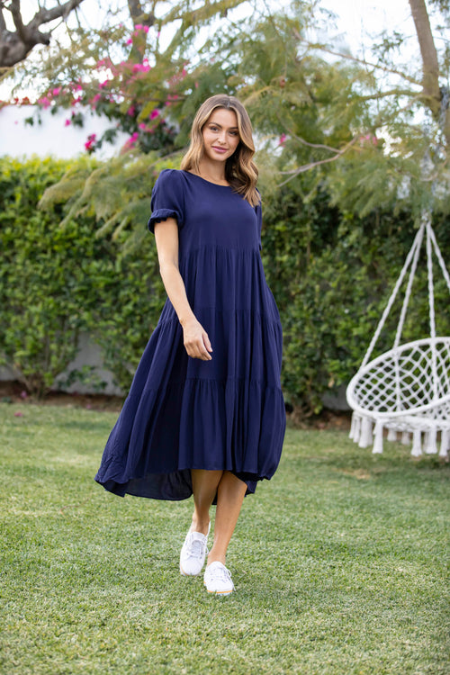 Penelope Midi Dress - Navy