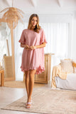 Carolina Frill Sleeve Dress - Pink
