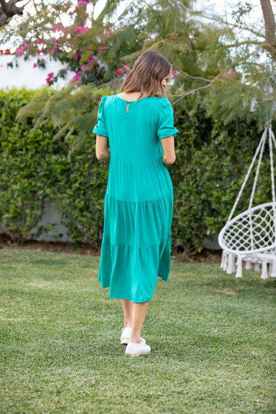 Penelope Midi Dress - Jade Green