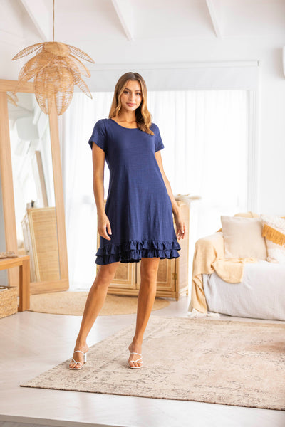 Brittany T-Shirt Dress - Navy