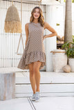 Leah Polka Dot Dress - Tan