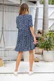 Emmy Babydoll Dress - Navy