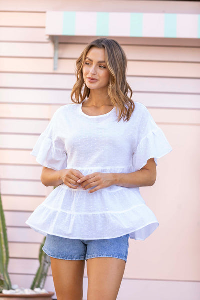 Lily Top - White - SALE