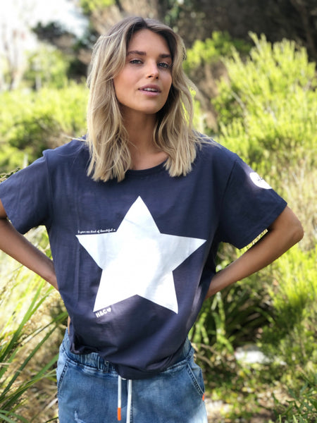 Star Tee - Navy with White Star