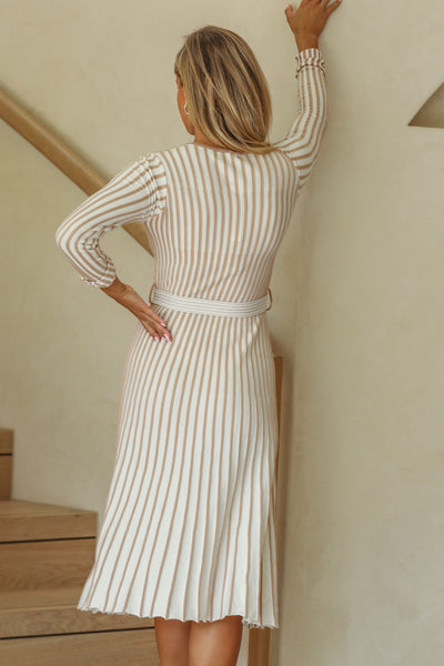 Gisele Knit Dress - Cream