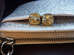 Swarovski Crystal, So Studly, 925 Sterling Post, Gold plated Post Earrings