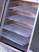 Plate steel shelves with laser-cut holes (legacy shelves)
