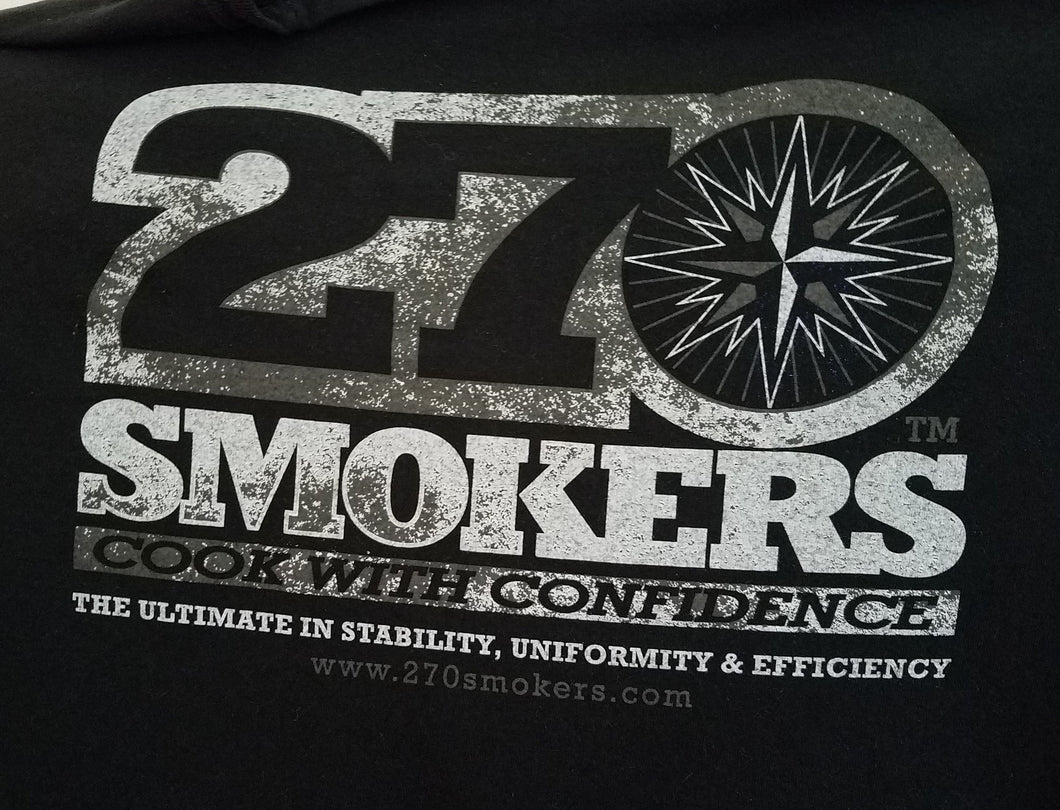 270 T-shirt, Black, Crew Neck, Short Sleeve