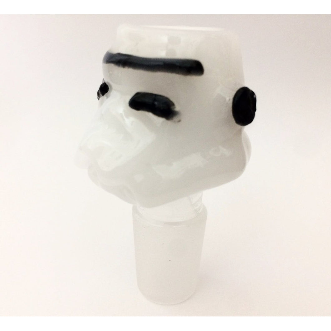 Storm Trooper Look-Alike Glass Bowl Piece
