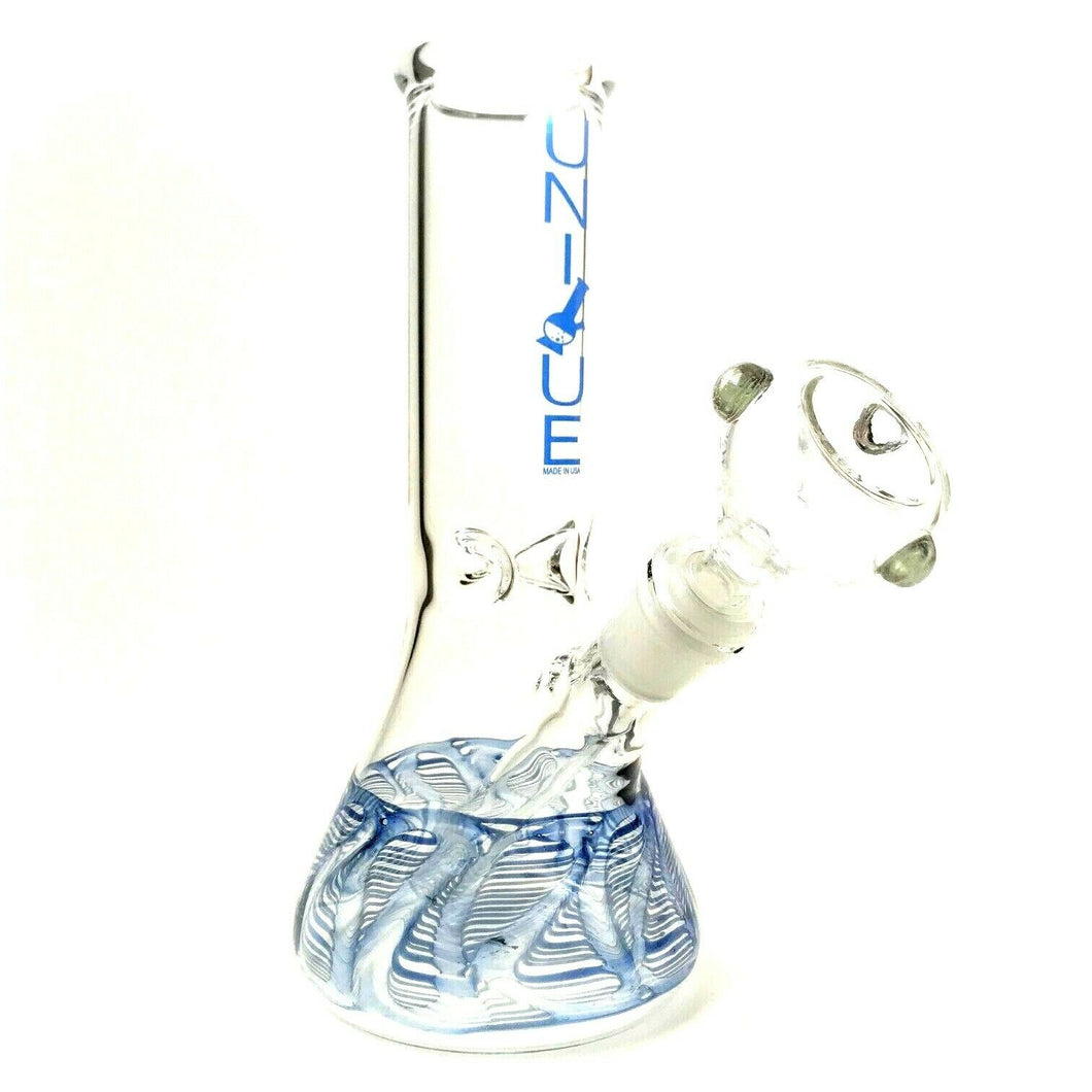 "Unique Glass 8"" Beaker Bong"