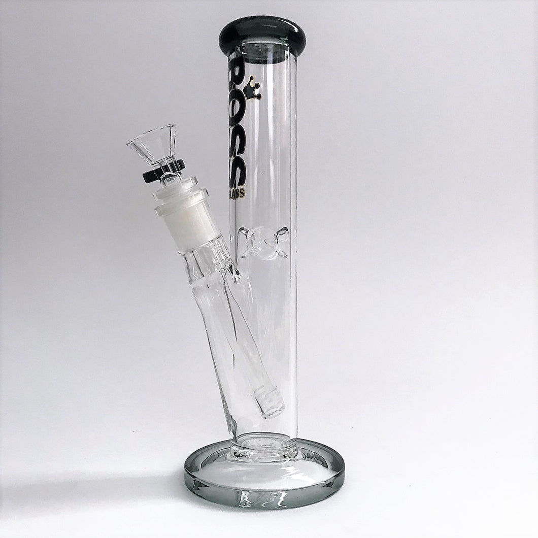 "Boss Glass Bong 10"" Straight Tube"