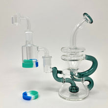 double recycler shower head dab rig kit with reclaim catcher