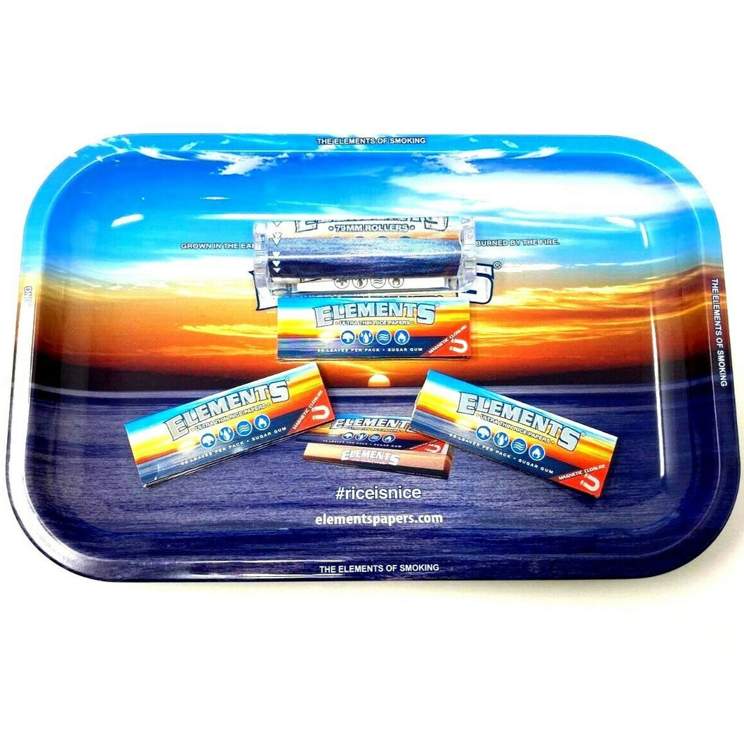 Elements rolling paper bundle tray set