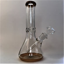Thick Glass 9mm Beaker Bong with Color Accents