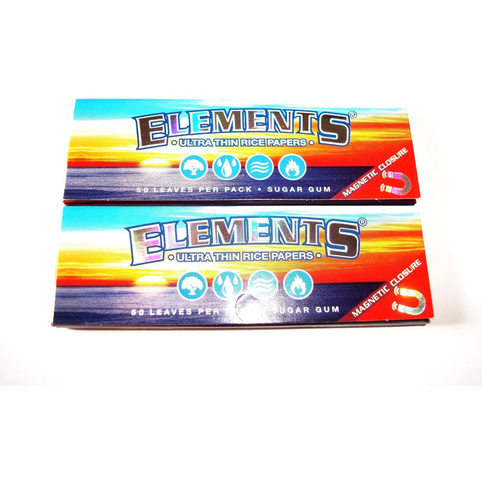 Elements Rolling Papers 1 1/4 Size - 2 pack
